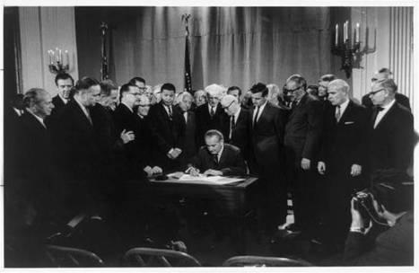 Lyndon Baines Johnson signing Civil Rights Bill, April 11, 1968 | Civil Rights | Scoop.it
