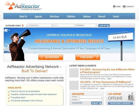 Adreactor Review : Online Premium Advertising Network | Website | Scoop.it
