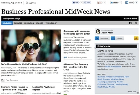 Aug 1 - Business Professional MidWeek News | Business Futures | Scoop.it