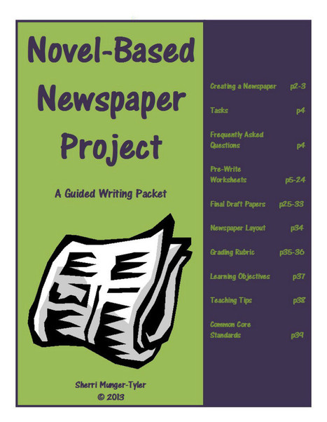 Writing : Novel-Based Newspaper Project (Authentic Assessment/Common Core Aligned) | Tools For School | Authentic Assessment | Scoop.it