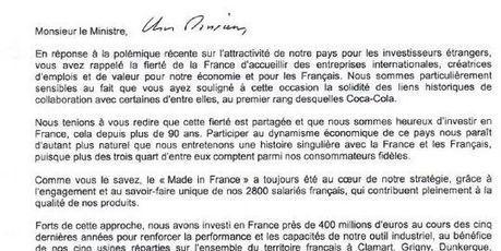 Quand Coca-Cola vient au secours d'Arnaud Montebourg   Responsabilité sociale des entreprises (RSE)   Scoop.it