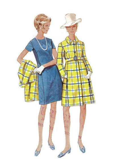 Butterick Retro 60s Sewing Pattern 5010 Basic Sheath Dress High Fashion Coat Full Figure Plus Size Bust 38 | Vintage Sewing Patterns | Scoop.it