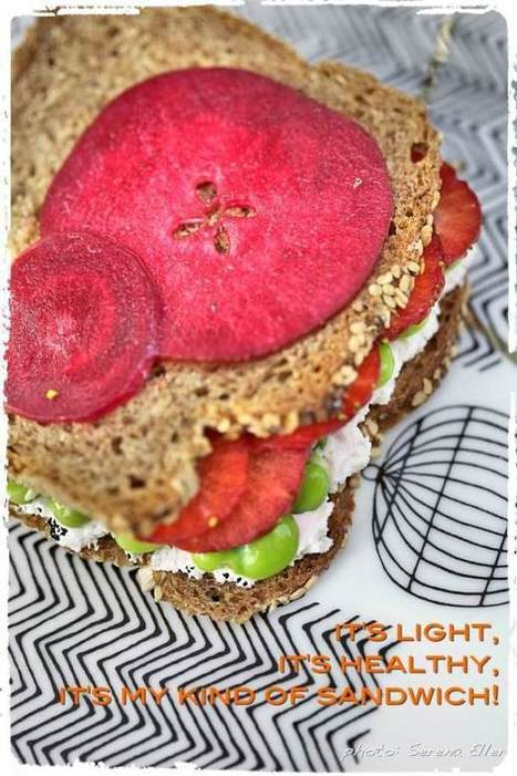 "Plated :: Sandwich ""Strawberries & Fava beans"" 