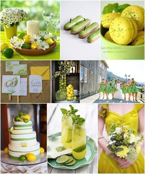 Lemon and Lime Wedding Ideas | French Wedding Inspiration | Scoop.it