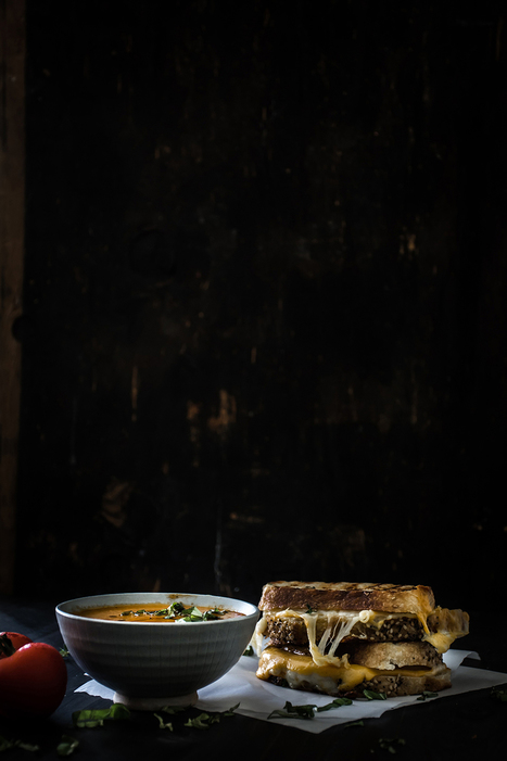 Roasted Tomato Basil Soup and Grilled Cheese | Everything about cooking and recipes | Scoop.it