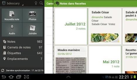 Evernote: nouvelle interface pour les tablettes Android | François MAGNAN  Formateur Consultant | Scoop.it