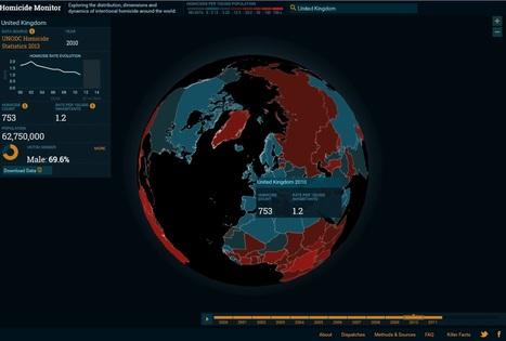 Global homicide data visualisation   Forensic medicine & pathology resources   Scoop.it