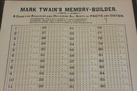 """Play Mark Twain's """"Memory-Builder,"""" His Game for Remembering Historical Facts & Dates 