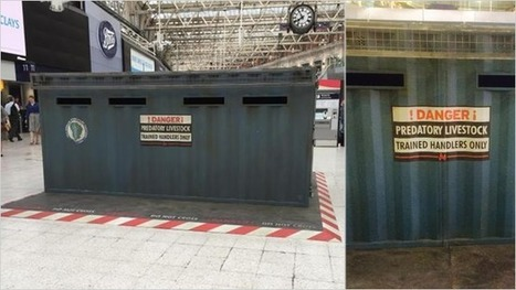 Jurassic World Transport Crate Appeared in Middle of London Train Station | Public Relations & Social Media Insight | Scoop.it