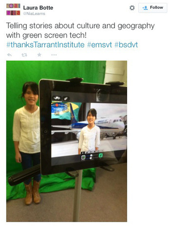 Global storytelling with a green screen and iPads | Transliteracy & eLearning | Scoop.it
