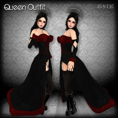 Queen Outfit for RMK Gothic Hunt | SL | Scoop.it