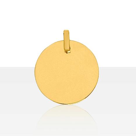 Médaille ronde Or 375 °°° A GRAVER | BIJOUX BAPTEME LAIQUE & CADEAU DE NAISSANCE | ENFANT & BEBE | TERRE DE BIJOUX.COM | Bijoux enfant & Bébé (Cadeaux de bapteme, naissance, anniversaire) | Scoop.it