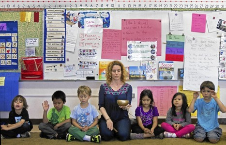 Mindful meditation at school makes kids go ommm - Los Angeles Times | Mindfulness Happiness for kids | Scoop.it