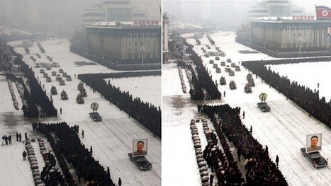 North Korea Restores Order to Kim Funeral With Photoshop | Images fixes et animées - Clemi Montpellier | Scoop.it