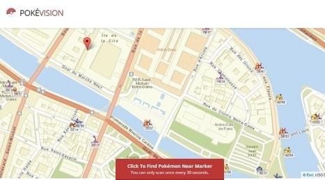 PokéVision vous aide à localiser et attraper les Pokémon proches de vous | Référencement internet | Scoop.it