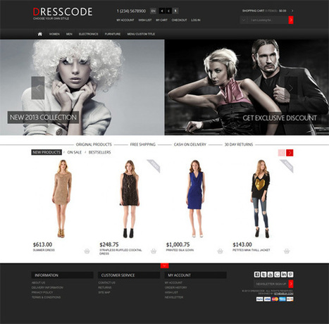 Dresscode, OpenCart Premium Fashion Store Theme | Premium Download | tippro | Scoop.it