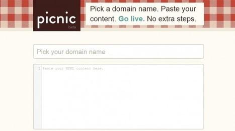 picnic, para tener una página web, con dominio propio, en pocos minutos | Recull diari | Scoop.it