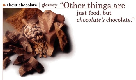 (EN) - About Chocolate- Glossary | ChocolateSource.com | Just Chocolate!!! | Scoop.it