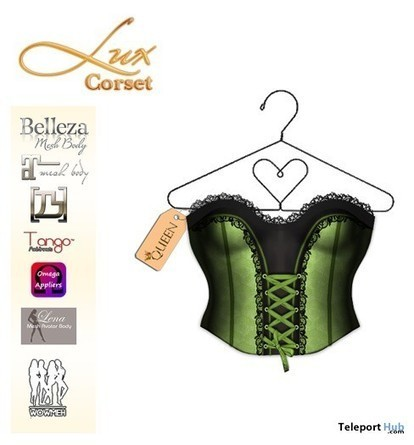 Lux Corset with Mesh Body Appliers 1L Promo by D Queen   Teleport Hub - Second Life Freebies   Second Life Freebies   Scoop.it