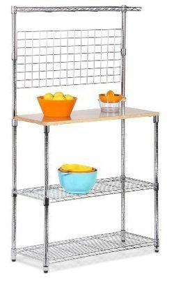 Best reviews of Honey-Can-Do SHF-01608 Bakers Rack with Cutting Board and Storage Shelves | Stainless Steel Kitchen Organizers for the Pro Cook | Scoop.it