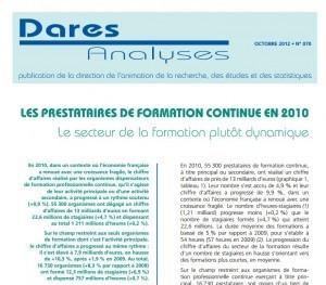 Les analyses de la DARES sur la Formation, dommage c'est 2010. A quand 2012? - Formations-conseils | Symetrix | Scoop.it