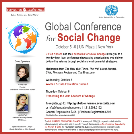 United Nations Global Conference for Social Change and Women & Girls Education Summit | Transformational Leadership | Scoop.it