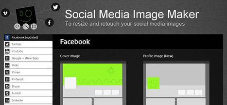 Social Media Image Maker: Organiza tu imagen para las redes sociales | Aprendiendoaenseñar | Scoop.it