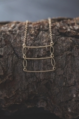 Veronica & Harold - Eve Ladder Necklace in Gold | Show Pony Boutique | Scoop.it