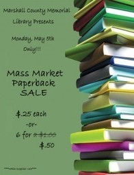 Marshall County Library / Paperback Book Sale May 5th ONLY!!! | Tennessee Libraries | Scoop.it