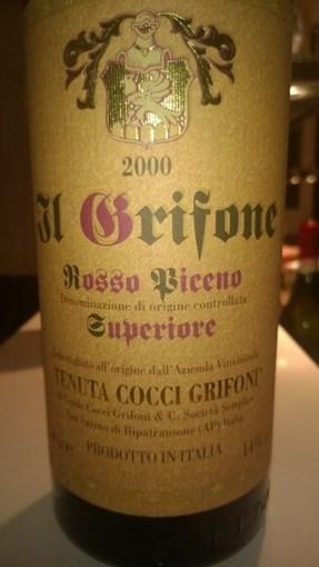 Rosso Piceno Superiore, Il Grifone, 2000, Tenuta Cocci Grifoni | Wines and People | Scoop.it