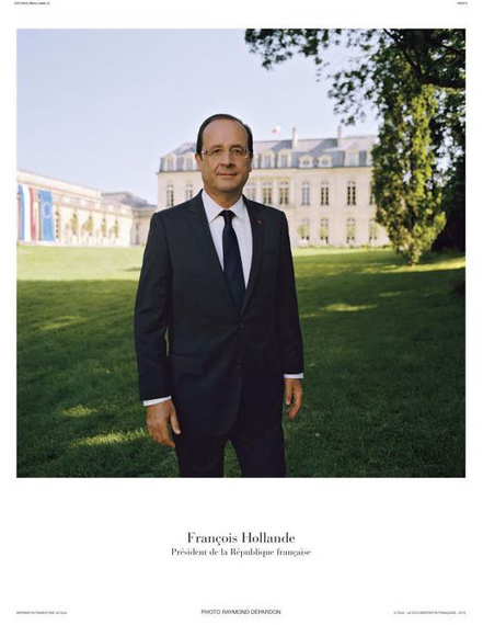 Le portrait officiel de François Hollande | | LYonenFrance | Scoop.it
