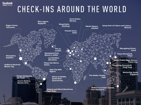 Mapping the World's Top Facebook Check-in Locations | visualizing social media | Scoop.it