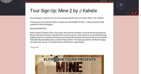 Tour Sign Up: Mine 2 by J Kahele | EliteBookPromotions | Scoop.it