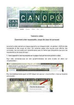 Tutoriel e-sidoc : comment créer nouveautés, coups de cœur et carrousel | Library & Information Science | Scoop.it