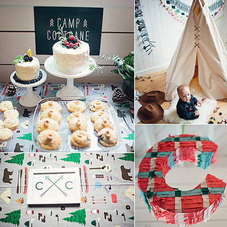A Modern Camp-Inspired First Birthday Party - PopSugar.com | birthday ideas | Scoop.it