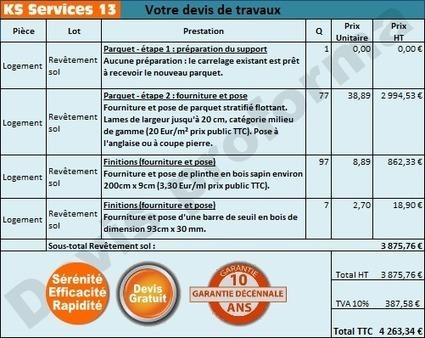 KS Services 13: Chiffrage travaux pose parquet flottant : Bouches du Rhône | Courtier en travaux Bouches du Rhône | Scoop.it