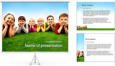 Kids on Grass PowerPoint Template & Backgrounds ID 01964 | SmileTemplates.com | Fiction Movie | Scoop.it