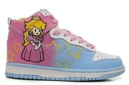 Nike Princess Peach SB Dunk Super Mario Sneakers Princess Peach Nike Dunks / Princess Peach Nikes Shoes | Hello Kitty Nike Dunks | Scoop.it