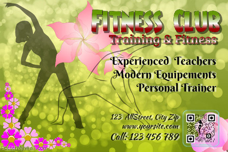 Flyer for fiteness club with visual QR code on PosterMyWall | QR CODE TEMPLATES | Scoop.it