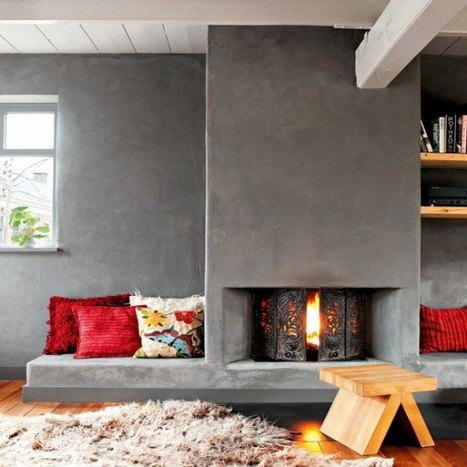 21 Amazing Fireplace Nooks Design | A. Perry Design Lounge | Scoop.it