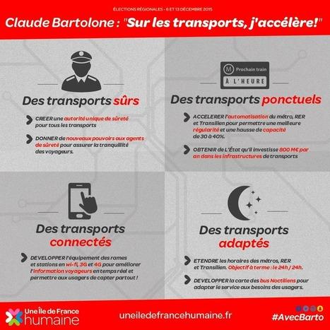 Claude Bartolone sur les transports : j'accélère ! | Une île de France humaine avec Claude Bartolone | Actualité de la politique française | Scoop.it