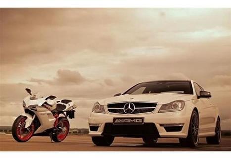 Ducati 848 Evo, Μercedes-Benz C63 AMG Coupé | MotoGP World | Scoop.it