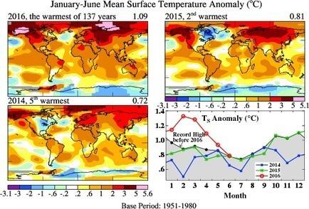 Climat : record à la mi-2016 | Planete DDurable | Scoop.it