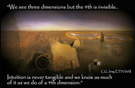 Carl Jung Depth Psychology: Carl Jung: The idea is that we see three dimensions, but the fourth is invisible. | spiritual growth | Scoop.it