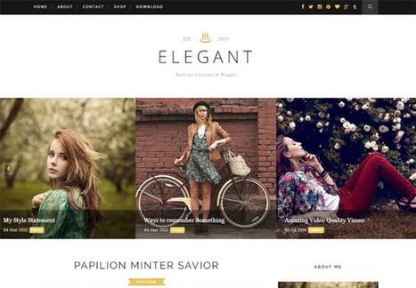 Elegant - Clean & Responsive Blogger Template - My Blogging Lab | Blogger themes | Scoop.it