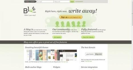 Las 10 mejores plataformas online para crear tu propio blog gratis | Web 2.0 y sus aplicaciones. | Scoop.it