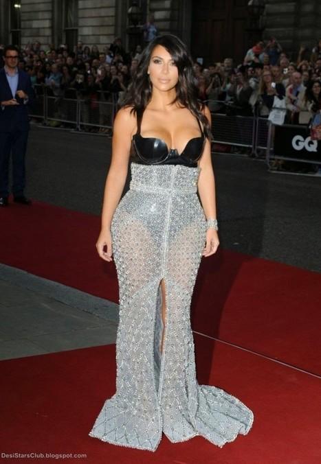 Kim Kardashian Gorgeous Stills In Transparent Dress at GQ Men of the Year Awards, Actress, Hollywood, Western Dresses | Indian Fashion Updates | Scoop.it