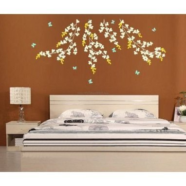 Vine And Butterfly Wall Decals – WallDecalMall.com | Flower Wall Decals | Scoop.it