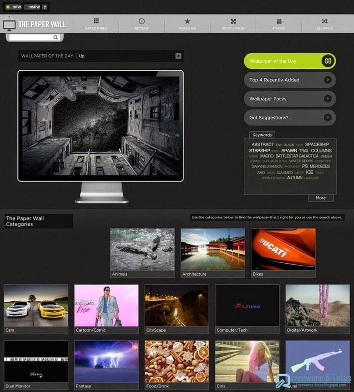 The Paper Wall : un site de fonds d'écran à découvrir   TIC et TICE mais... en français   Scoop.it