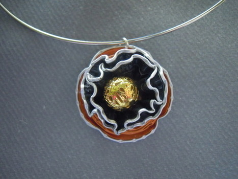 bijou fantaisie collier orange capsules  : Collier par bijbox | bij - box ( bijoux à partir de capsules nespresso) | Scoop.it